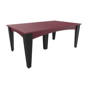 Island Rectangular Table - Cherry & Black