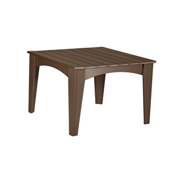 Island Square Table - Chestnut Brown