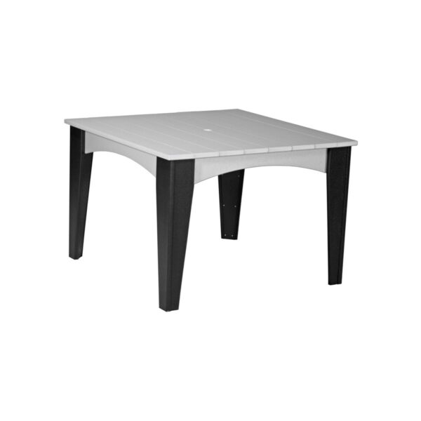 Island Square Table - Dove Gray & Black