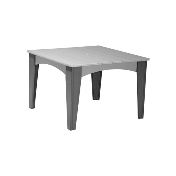 Island Square Table - Dove Gray & Slat