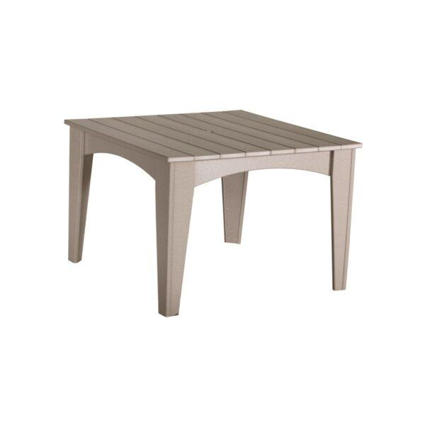 Island Square Table - Weatherwood