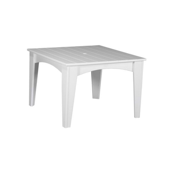 Island Square Table - White