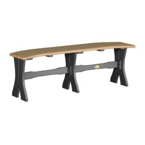 Large Dining Bench - Cedar & Black