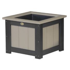 Large Planter - Weatherwood & Black