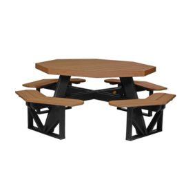 Octagon Picnic Table - Antique Mahogany & Black
