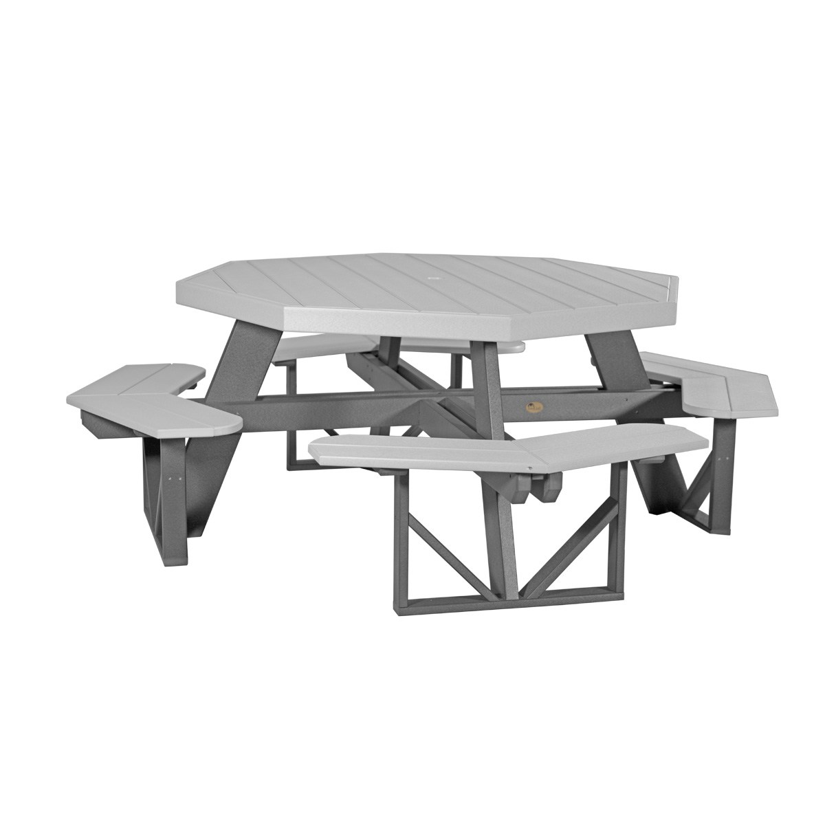 Octagon Picnic Table Recycled Patio Fine Oak Things