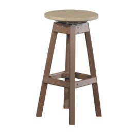 Outdoor Bar Stool - Weatherwood & Brown