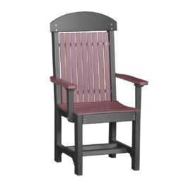 Outdoor Captain Chair (Dining Height Shown) - Cherry & Black