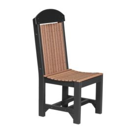 Outdoor Dining Chair (Dining Height Shown) - Antique Mahogany & Black