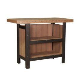 Outdoor Serving Bar - Antique Mahogany & Black