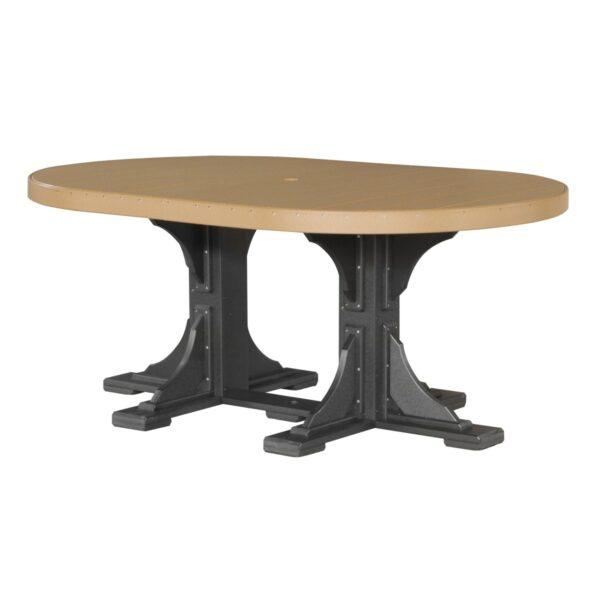 Oval Table - Cedar & Black