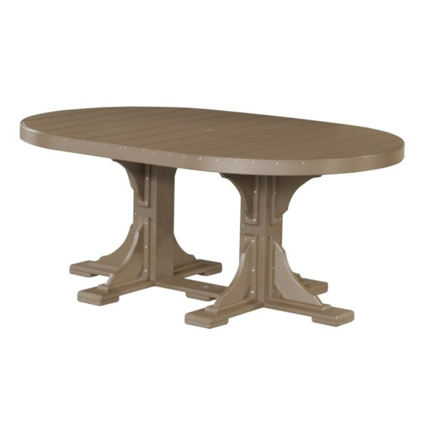 Oval Table - Chestnut Brown