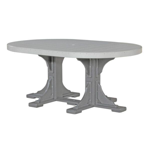 Oval Table - Dove Gray & Slate