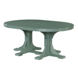 Oval Table - Green