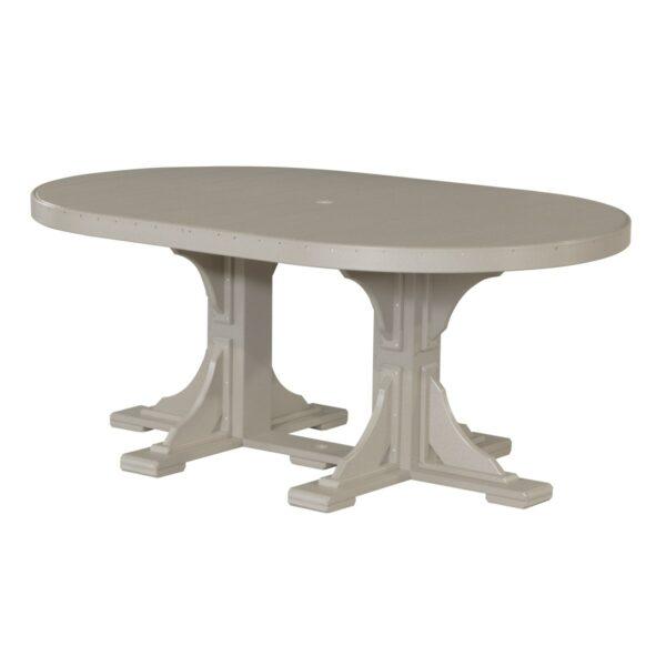 Oval Table - Weatherwood