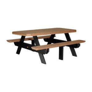 Rectangular Picnic Table - Antique Mahogany & Black