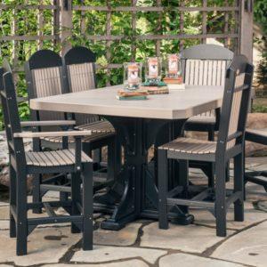 Rectangular Table 7-Piece Patio Dining Set