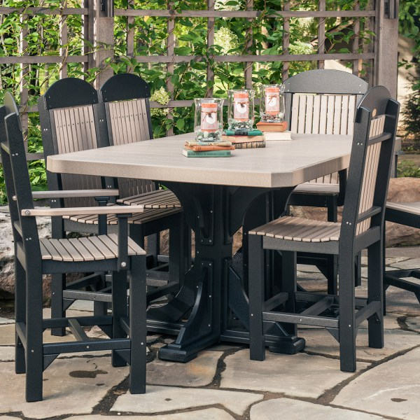Rectangular Table 7 Piece Patio Dining Set Recycled  : Rectangular Table 7 Piece Patio Dining Set from fineoakthings.com size 600 x 600 jpeg 117kB