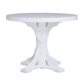 Round Table (Counter Height Shown) - White