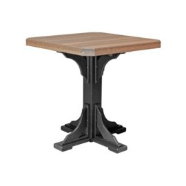Square Table (Bar Height Shown) - Antique Mahogany & Black