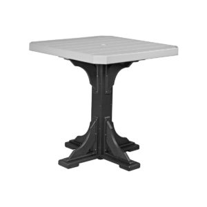 Square Table (Bar Height Shown) - Dove Gray & Black