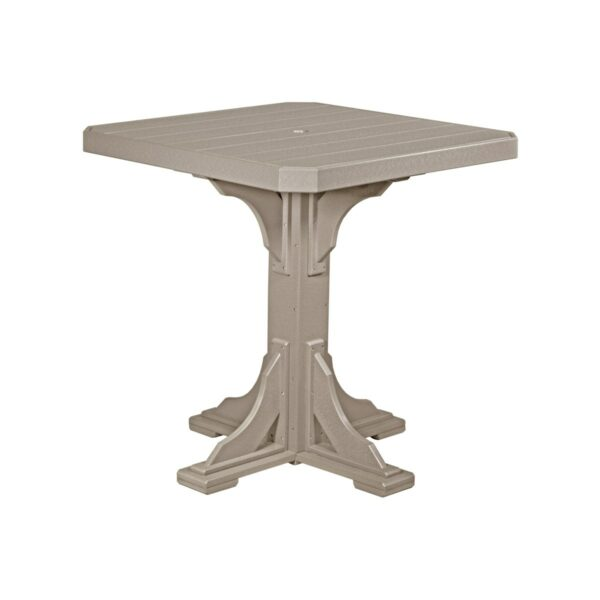 Square Table (Bar Height Shown) - Weatherwood