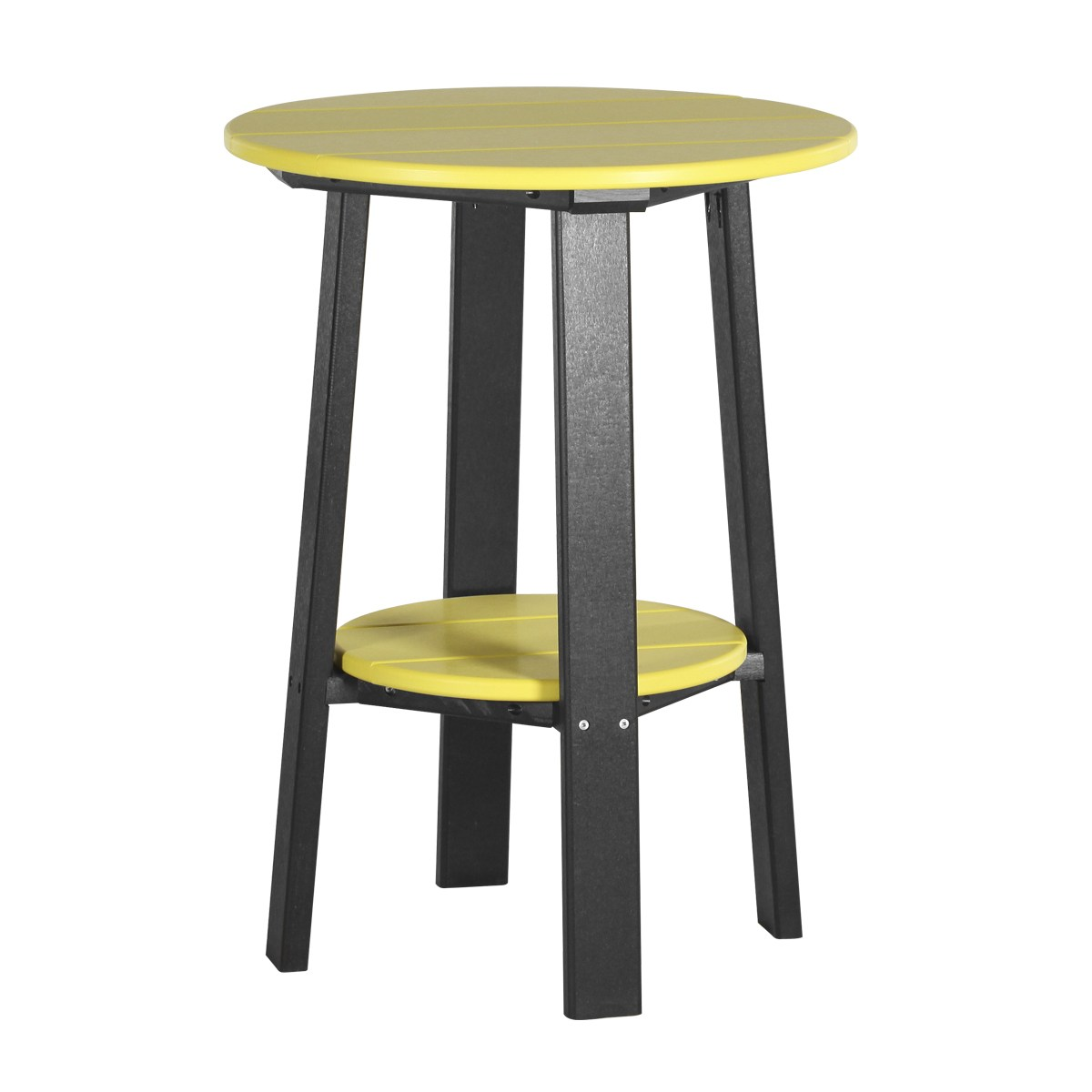 Tall deluxe end table recycled patio fine oak things for Tall black end table
