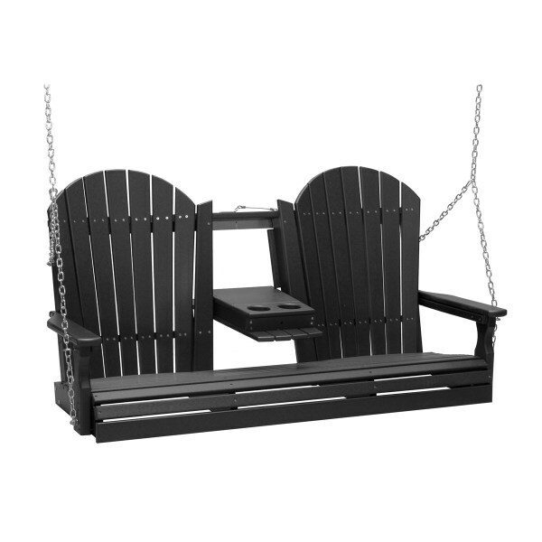 Triple Adirondack Swing - Black