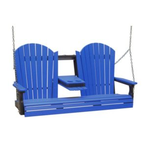 Triple Adirondack Swing - Blue & Black