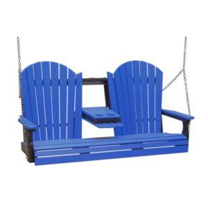 Triple Adirondack Swing - Blue & Black