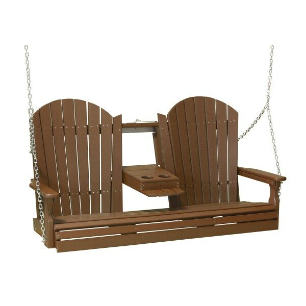 Triple Adirondack Swing - Chestnut Brown