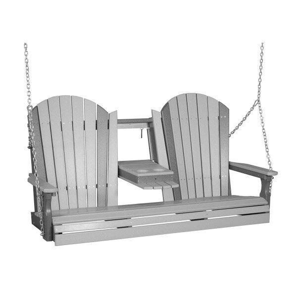 Triple Adirondack Swing - Dove Gray & Slate