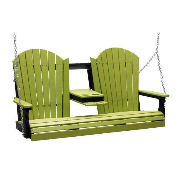 Triple Adirondack Swing - Lime Green & Black