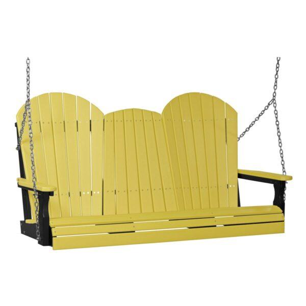 Triple Adirondack Swing - Yellow & Black