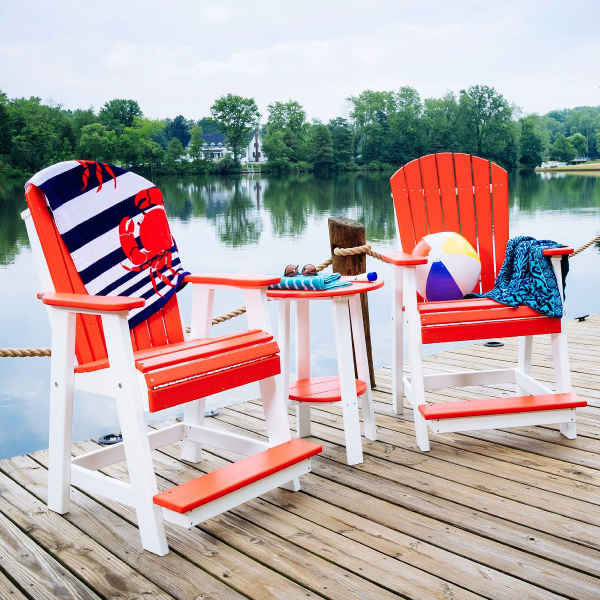 Adirondack Balcony Chairs on Dock