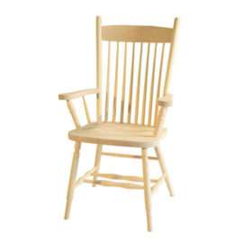 High Back Plain Arm Chair