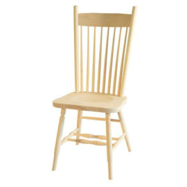 High Back Plain Dining Chair