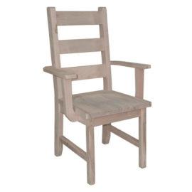 Rustic Ladderback Arm Chair
