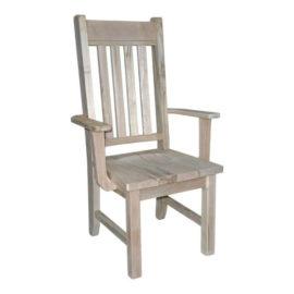 Rustic Slat Arm Chair