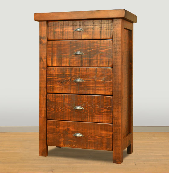 Threshing 5-Drawer Highboy Chest