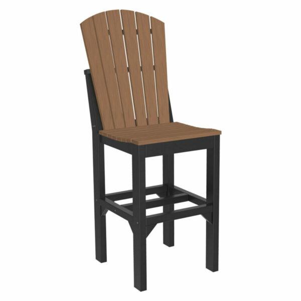 Adirondack Bar Chair - Antique Mahogany & Black