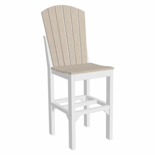 Adirondack Bar Chair - Birch & White