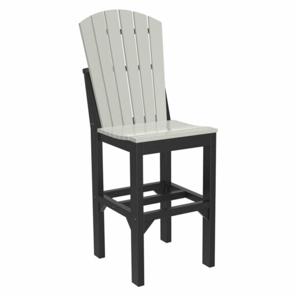 Adirondack Bar Chair - Dove Grey & Black