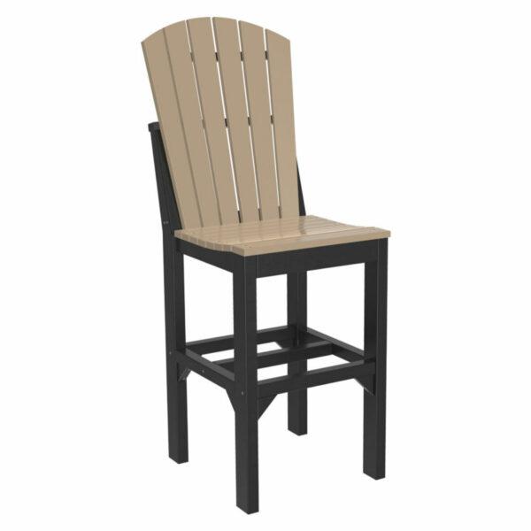 Adirondack Bar Chair - Weatherwood & Black