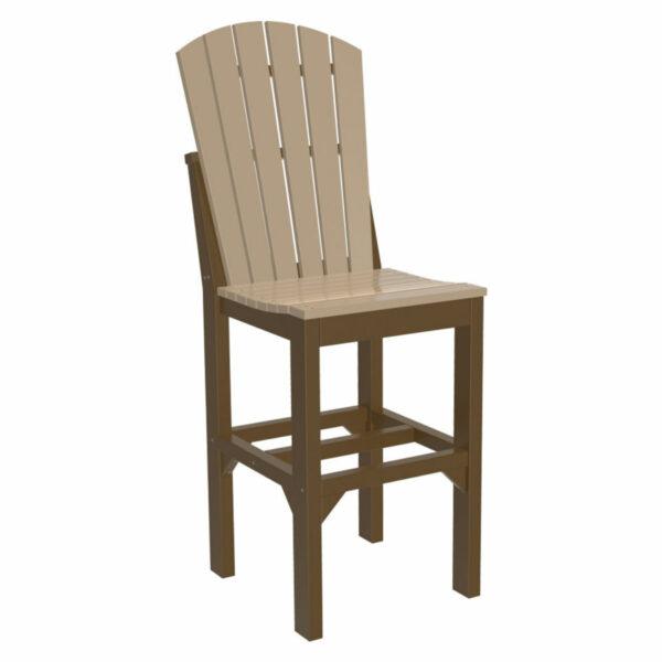 Adirondack Bar Chair - Weatherwood & Chestnut Brown
