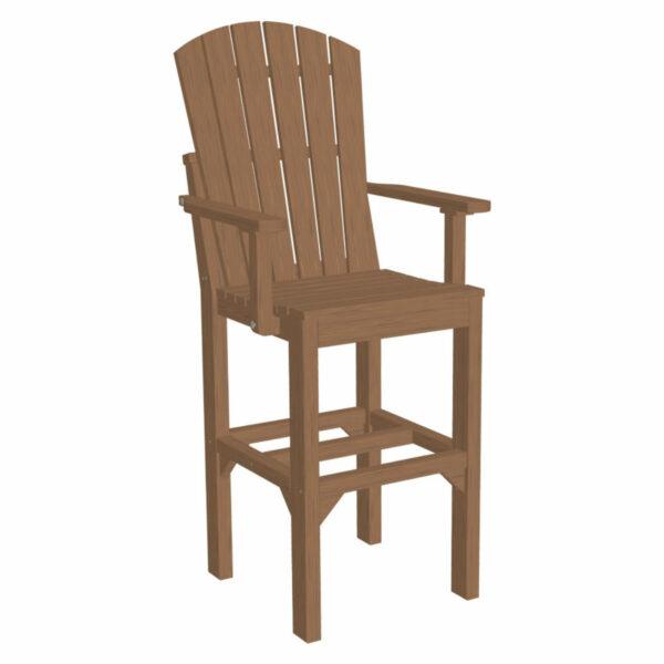 Adirondack Captain Bar Chair - Antique Mahogany
