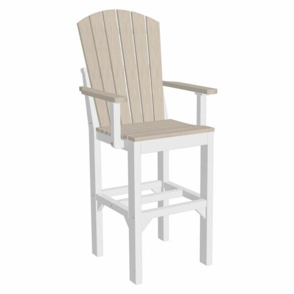 Adirondack Captain Bar Chair - Birch & White