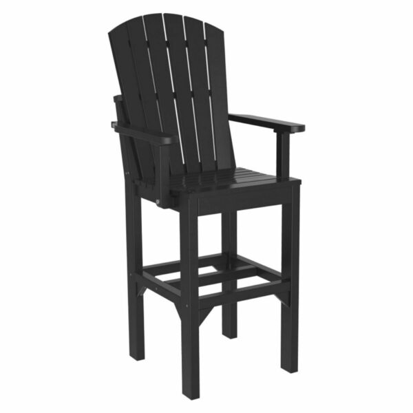 Adirondack Captain Bar Chair - Black
