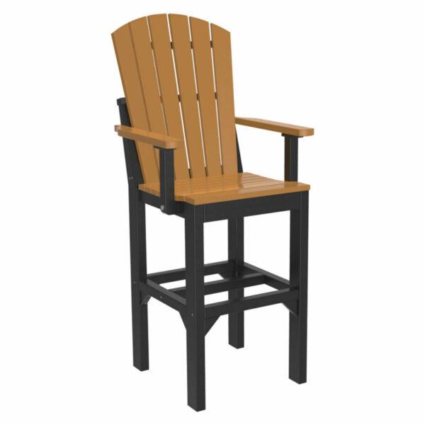 Adirondack Captain Bar Chair - Cedar & Black