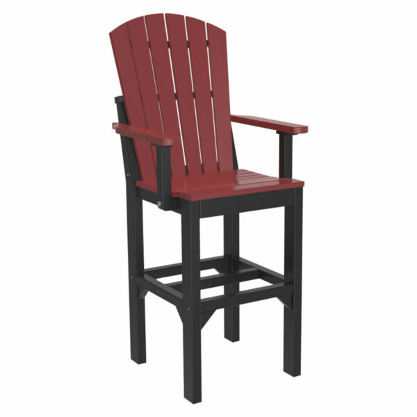 Adirondack Captain Bar Chair - Cherry & Black